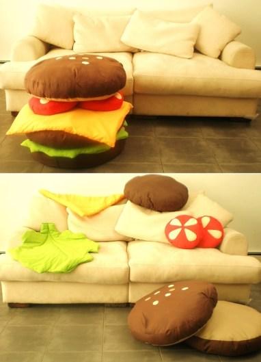 hamburger coussins