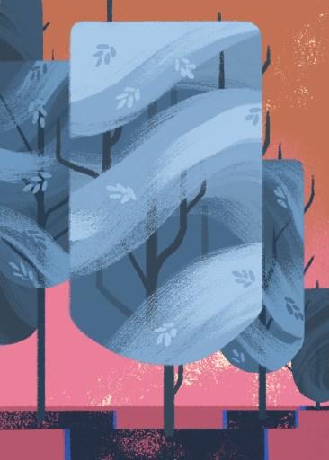 ruckenfigures arbre tree dessin 02