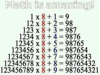 math table 8