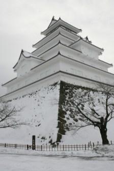 chateau japonais neige