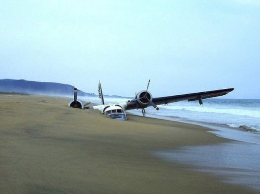 avion sable plage