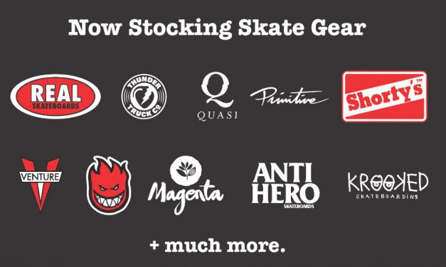 Skate stock back in store…