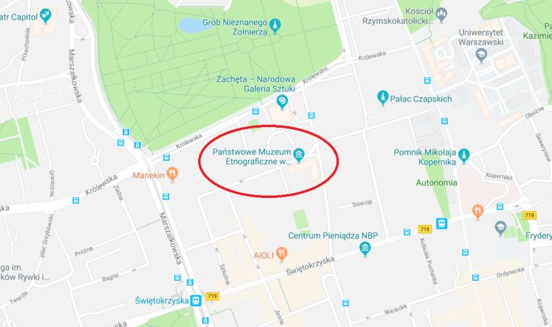mapa muzeum etnograficznego