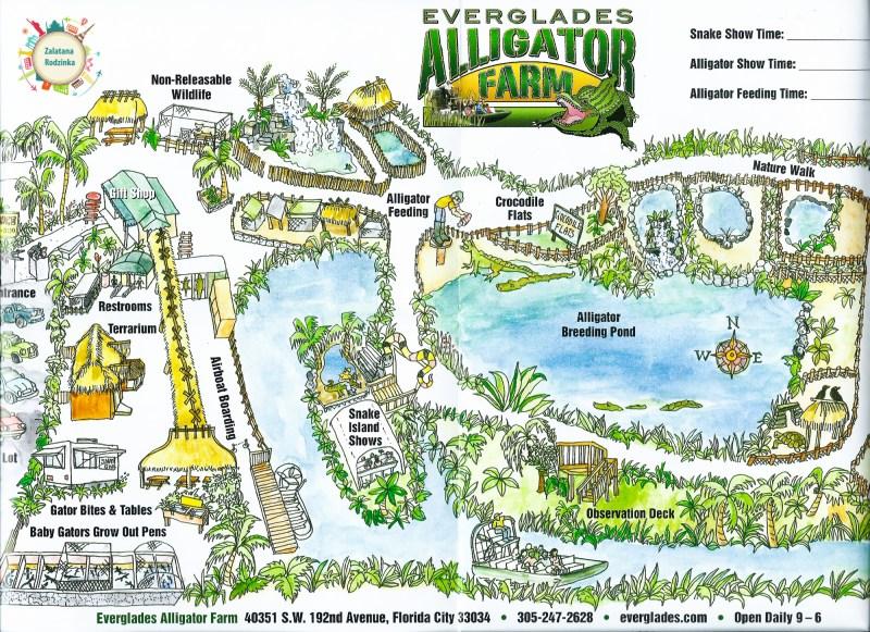 mapa aligator farm
