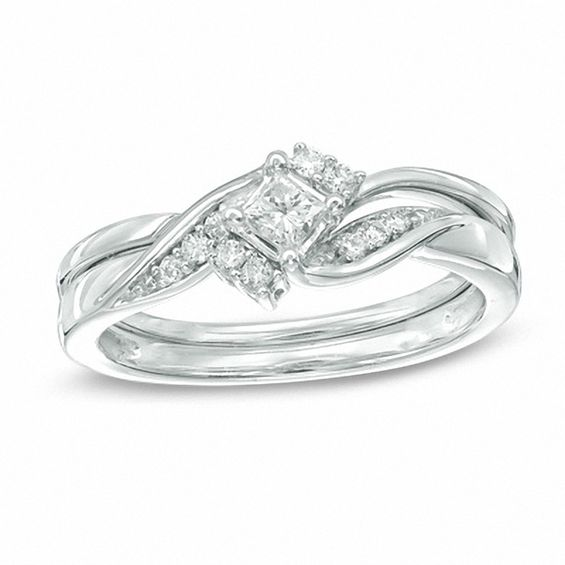 Princess Cut Diamond Wedding Ring Sets