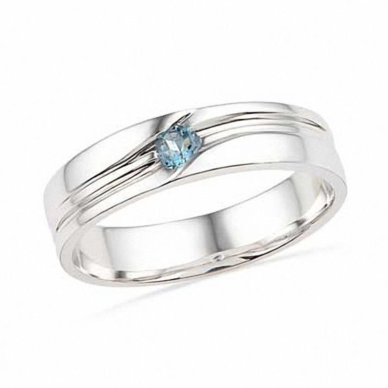 Mens Aquamarine Ring In Sterling Silver Online