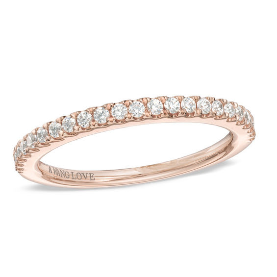 t w diamond wedding band in 14k rose