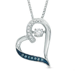 Unstoppable Love   Collections   Zales T W  Enhanced Blue and White Diamond Tilted Heart