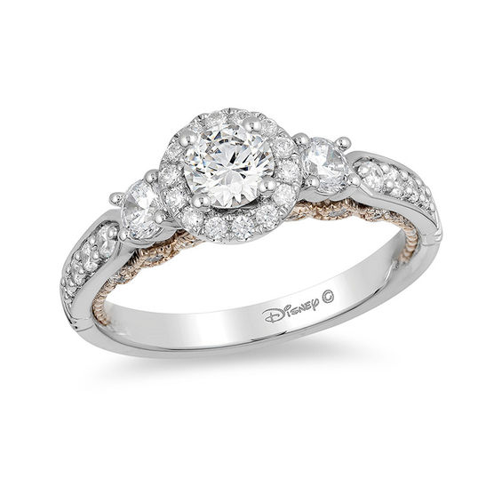 Enchanted Disney Jasmine 1 CT TW Diamond Three Stone