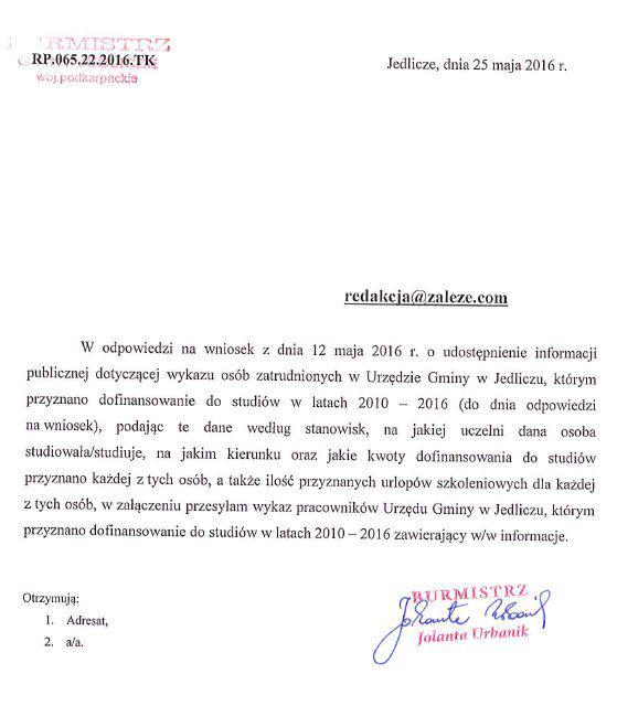 Jedlicze_InformacjaWykaz