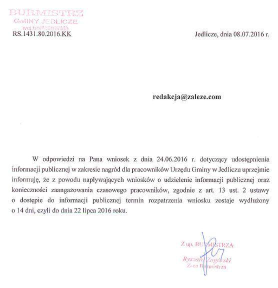 Jedlicze_przedluzenie_informacja publiczna