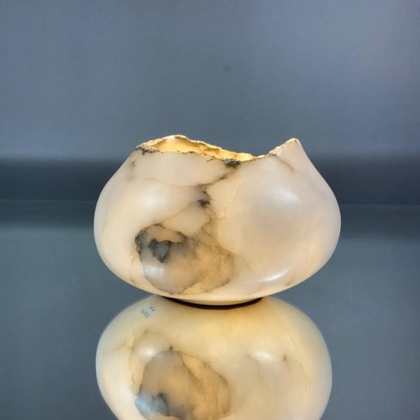 Wide belly bowl with purpleheart foot by zali zalkind
