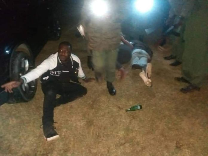 WATCH VIDEO: Police officers whip some of the patrons who gathered to consume alcohol amid Covid 19 Ban 4