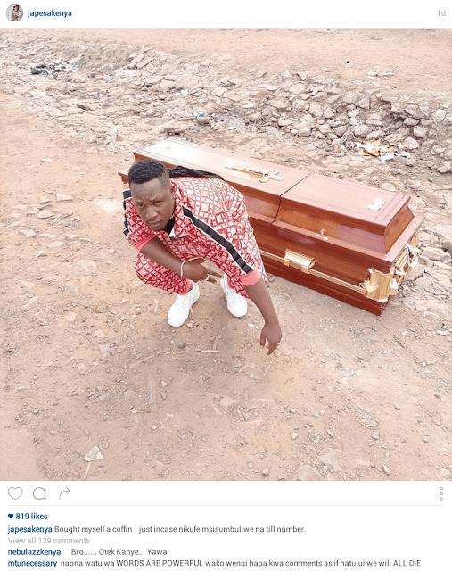 Popular Kenyan musician buys his own coffin 3