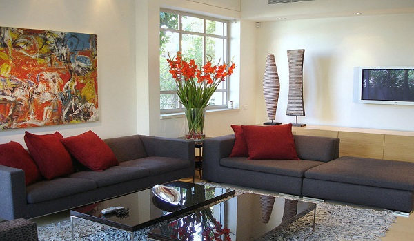 Cheap Living Room Decorating Ideas With Modern Sofa
