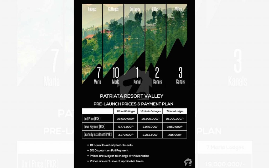 Payment Plan for Patriata Resort Valley