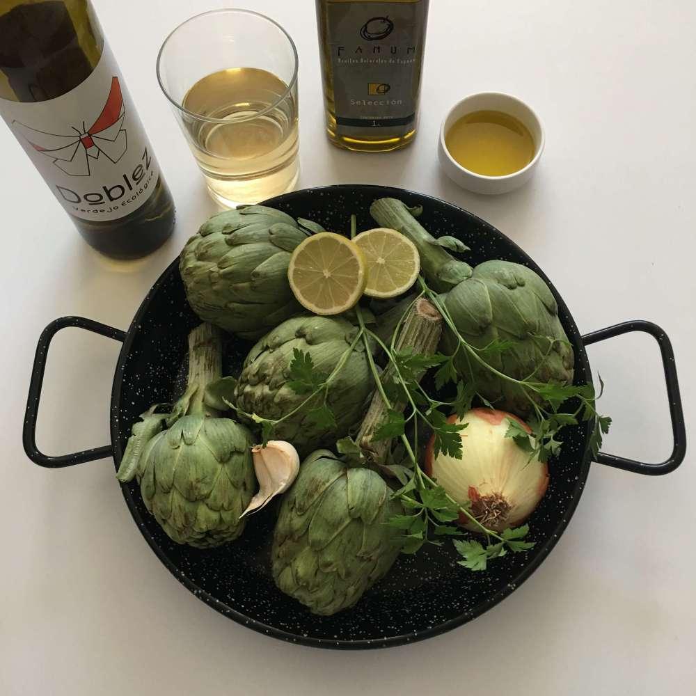 Receta de alcachofas estofadas