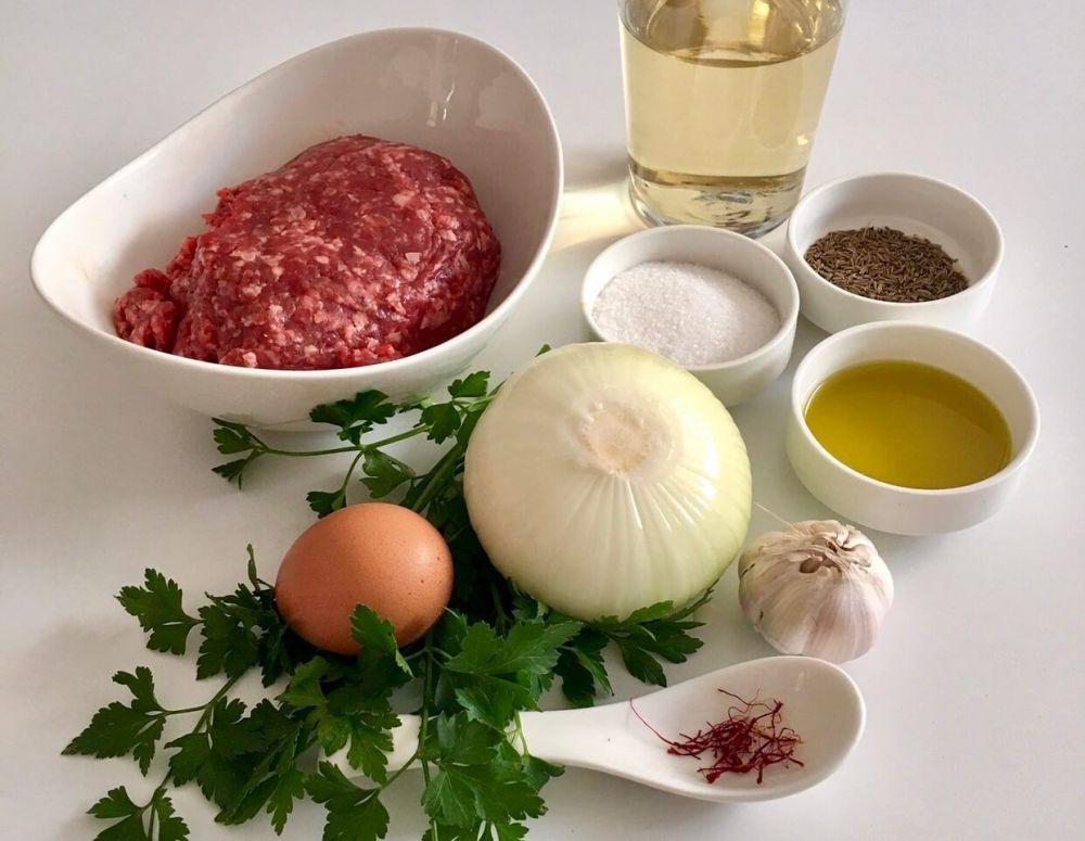 Ingredientes para hacer albóndigas