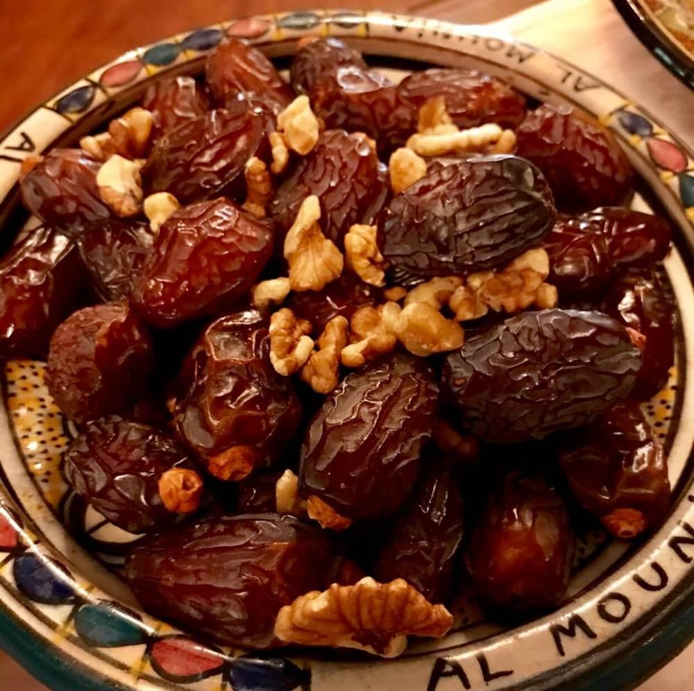Dátiles del restaurante Al-Mounia