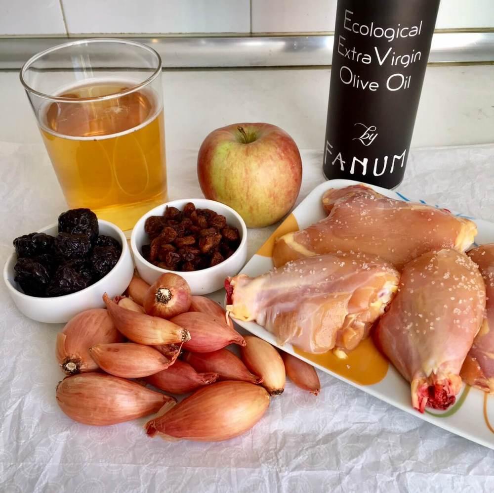 Ingredientes para hacer pollo goloso a la cerveza