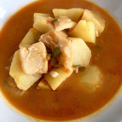 Receta de patatas con bacalao