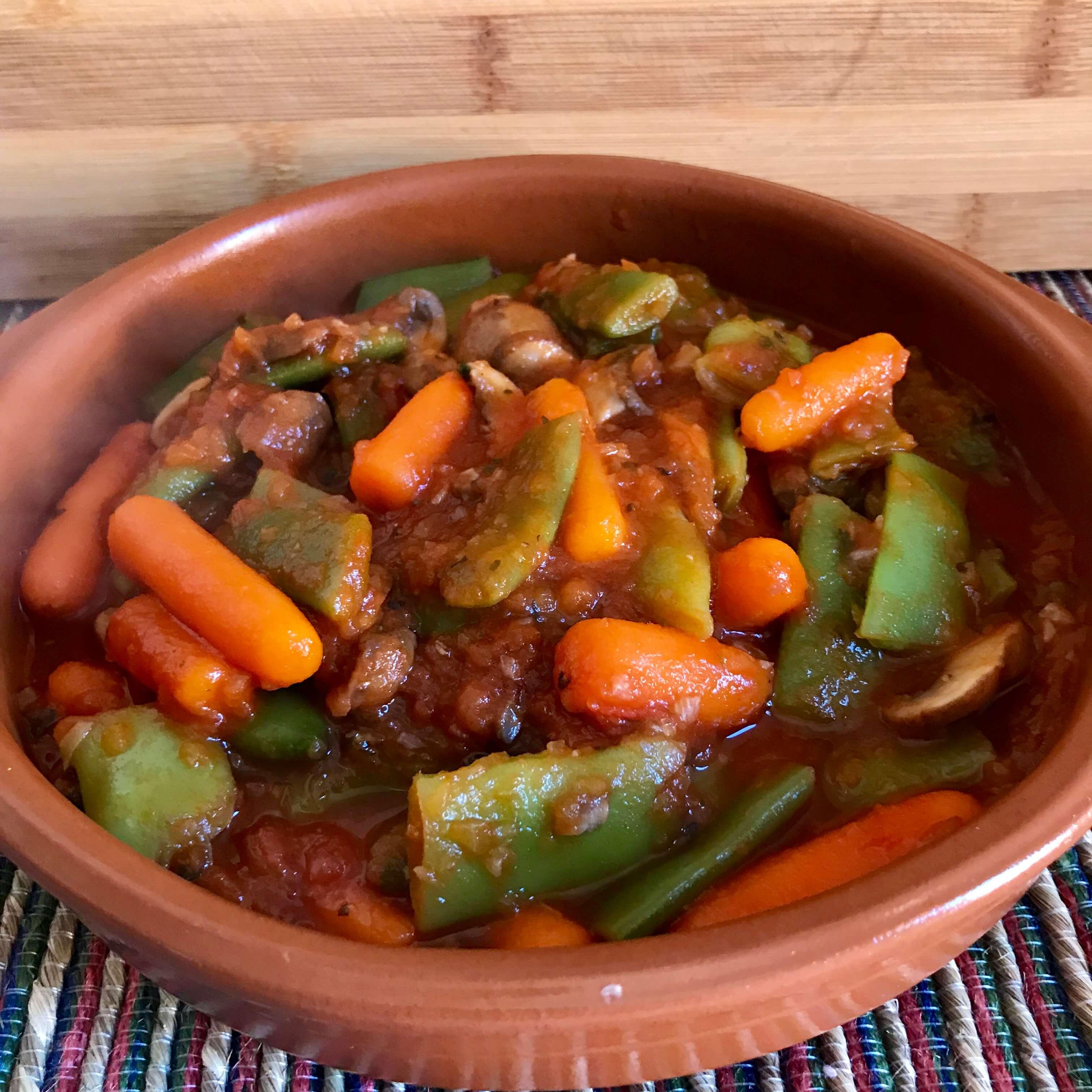 Receta de verduras con tomate