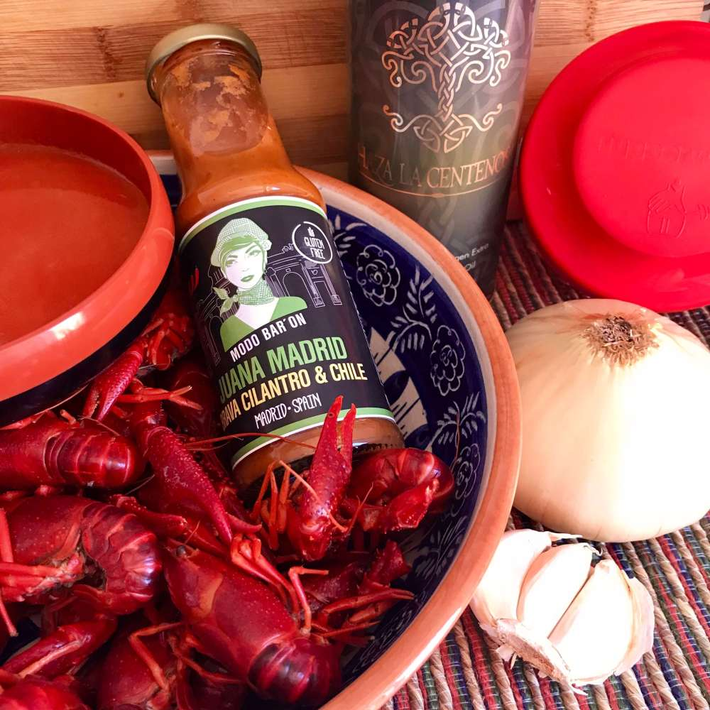 Receta cangrejos de río picantes con Juana Madrid