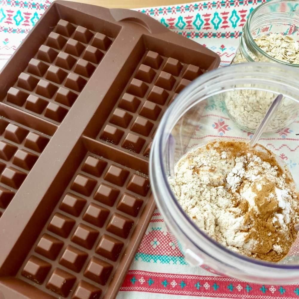 Pasos para hacer gofres con Tupperware