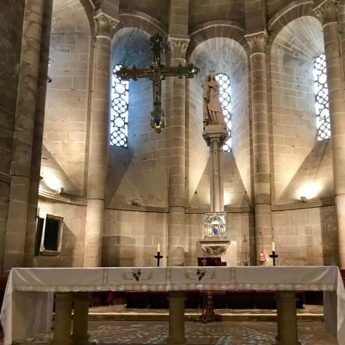 Interior del Monasterio de la Oliva