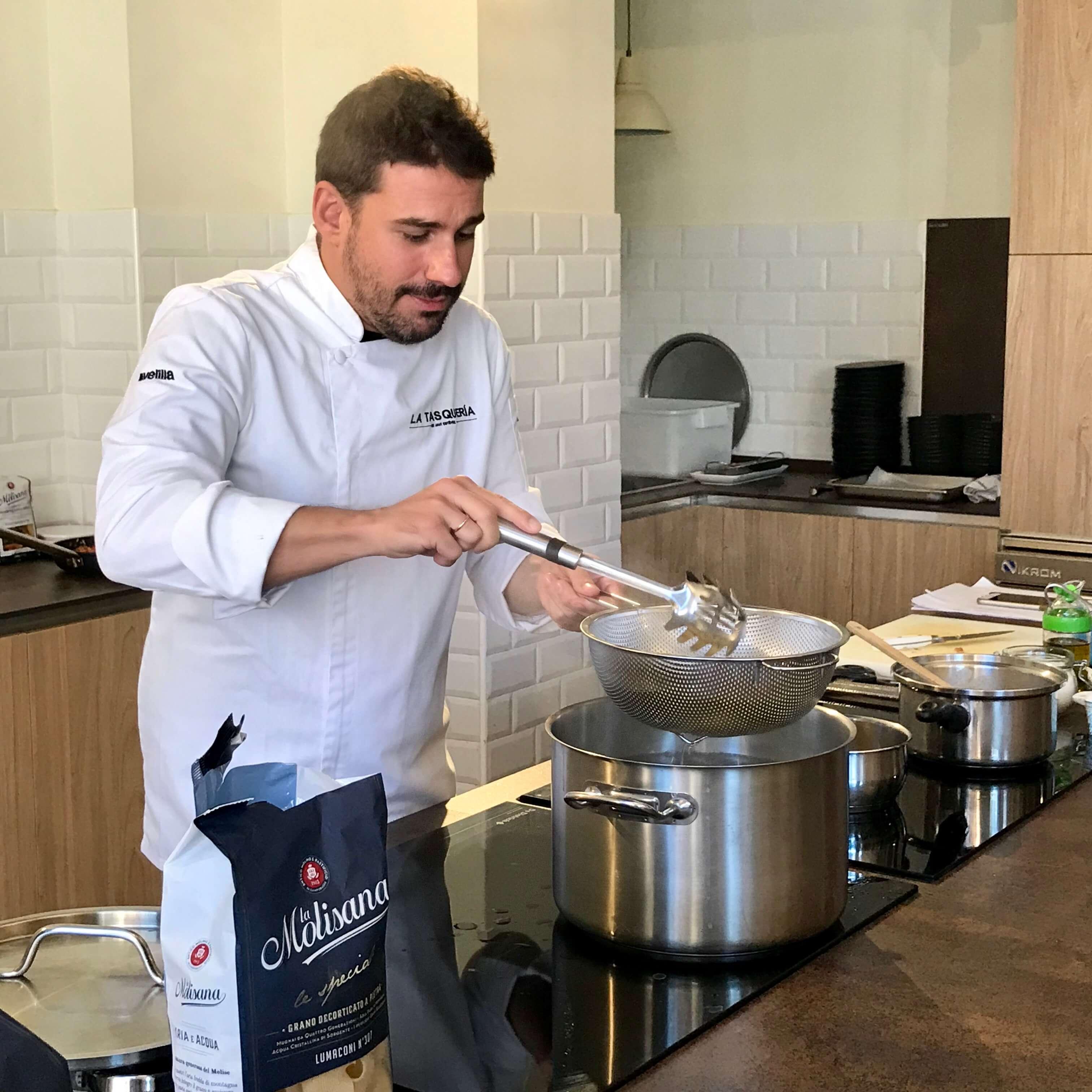 Chef Javi Estévez y pasta La Molisana