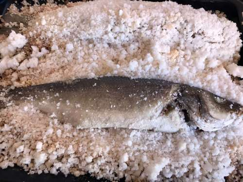 Cocina con pescado
