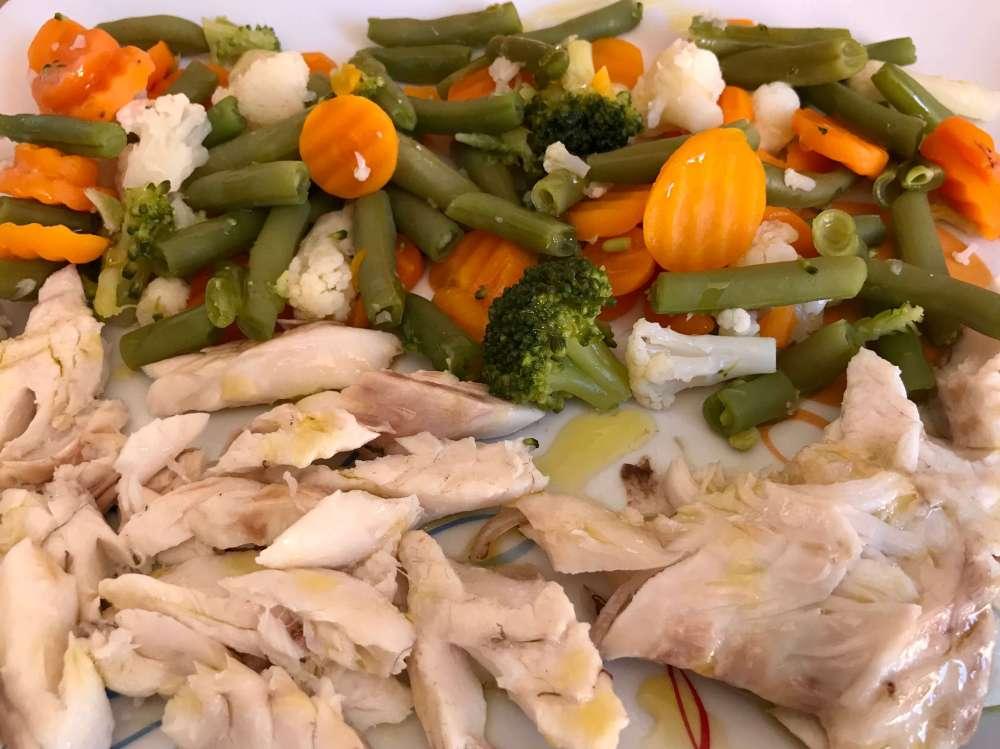 Lubina con verduras