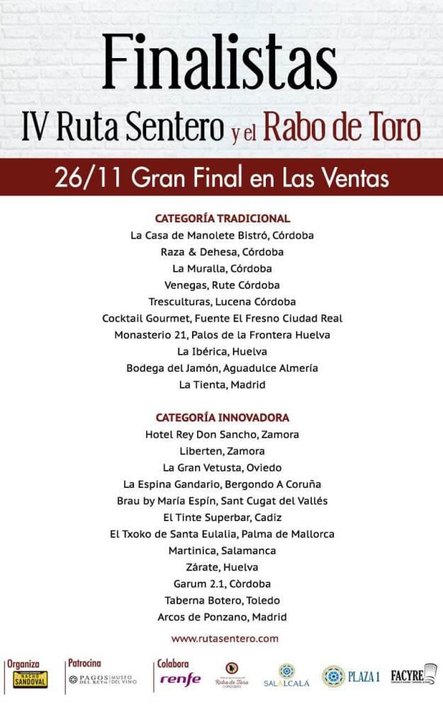Semifinalistas a Ruta Sentero Madrid 2019