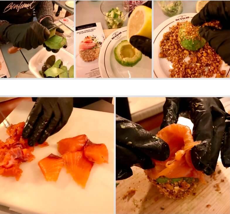 Receta de aguacate crujiente con salmón