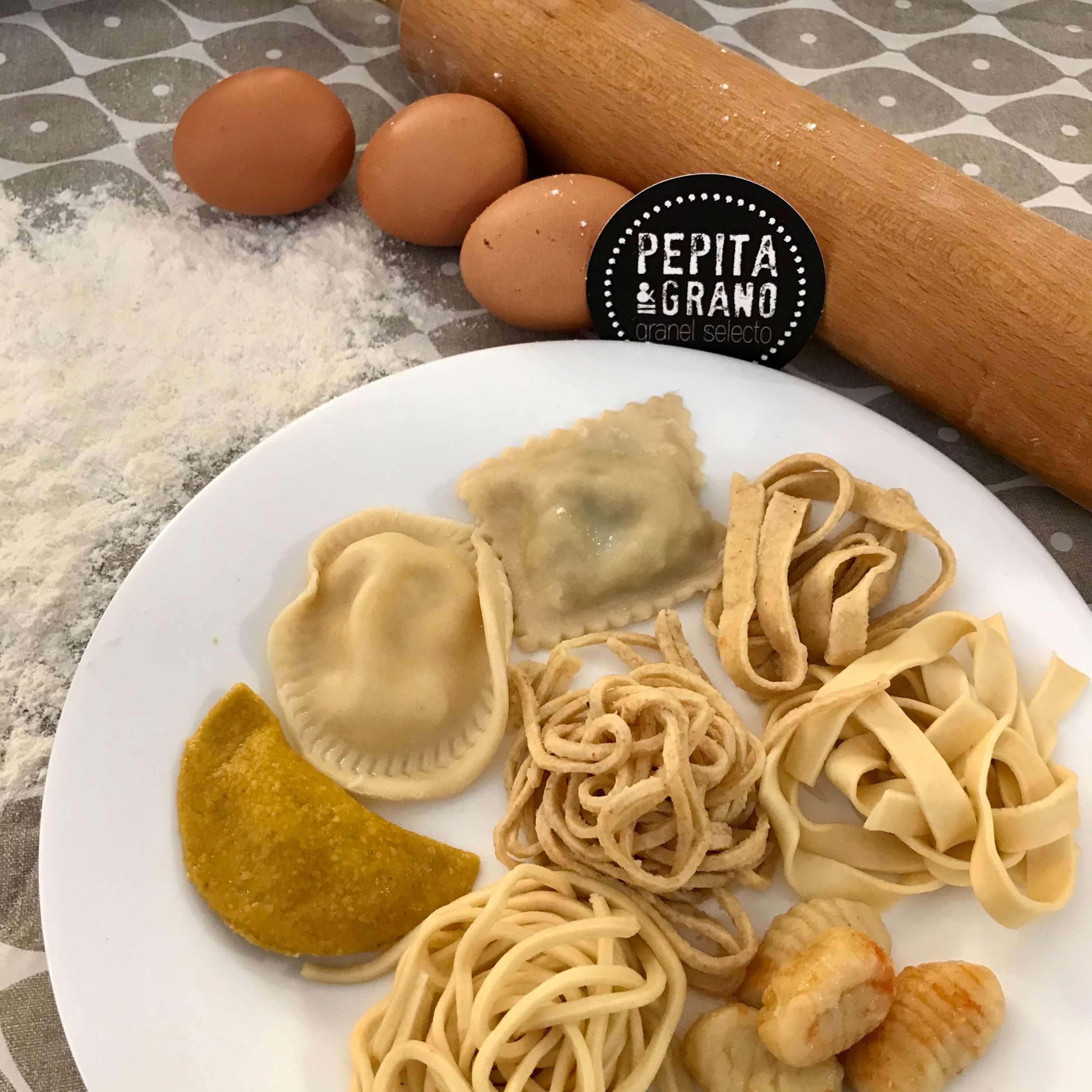 Pasta fresca casera en Pepita y Grano