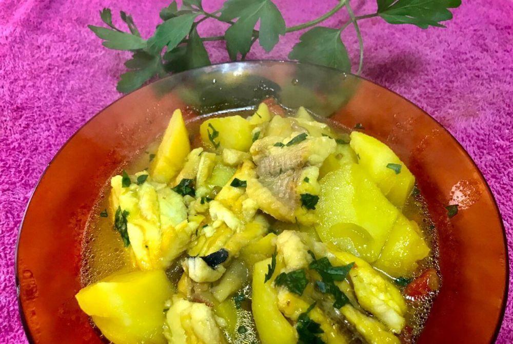 Receta de golayo con patatas