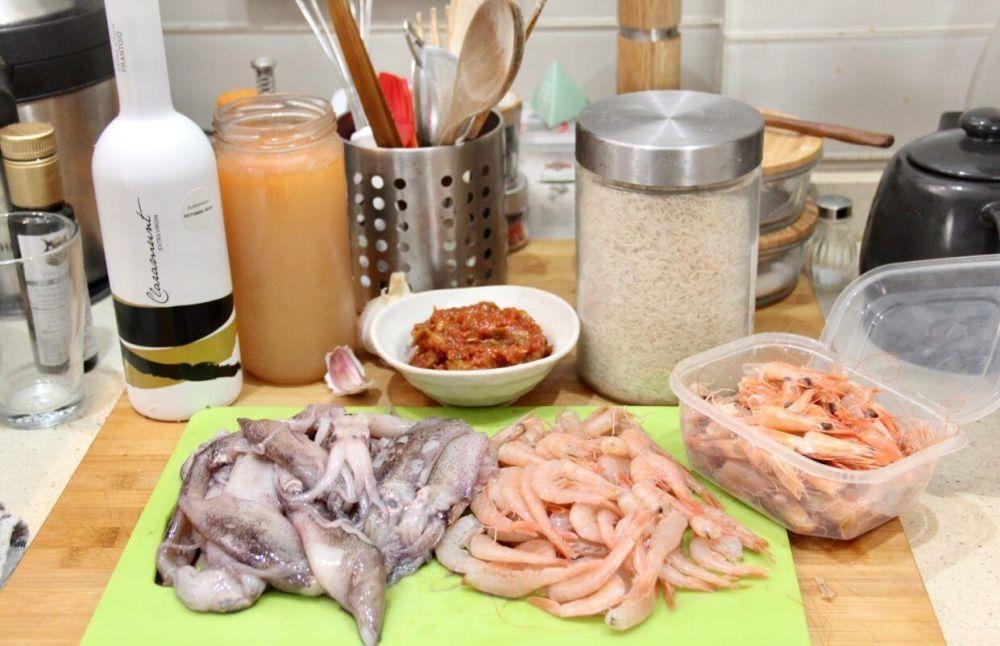 Ingredientes para hacer paella