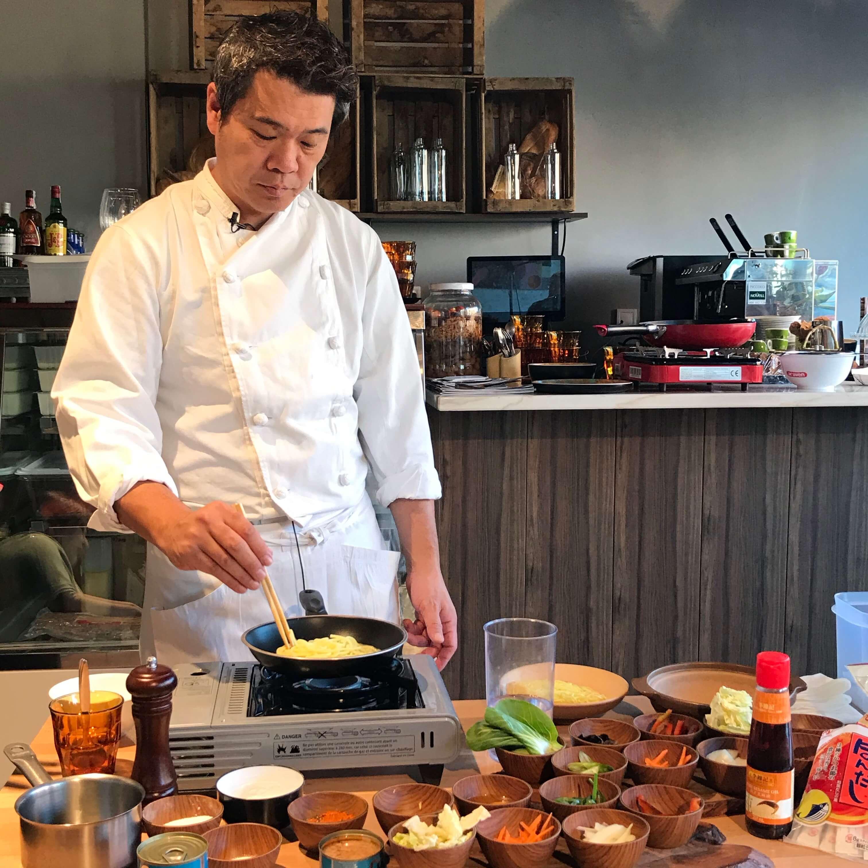 Chef Kobayashi con Komeko harina de arroz