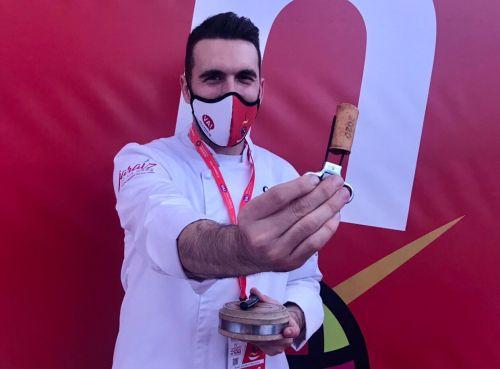 Emilio Martín Maquedano del restaurante Suite 22 ganador nacional del concurso XVI Pinchos y tapas en Valladolid