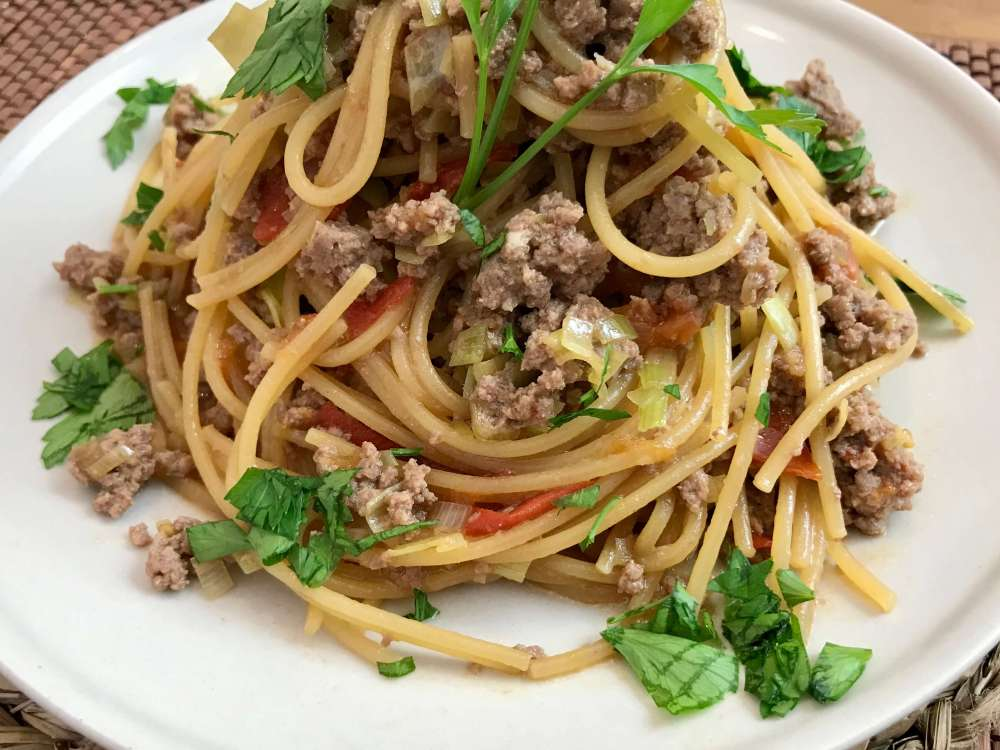 Receta de espagueti boloñesa estilo japonés