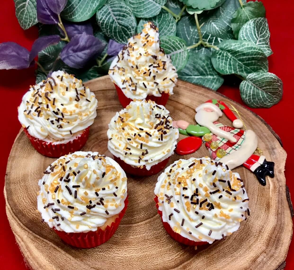 Cupcakes de Navidad fáciles