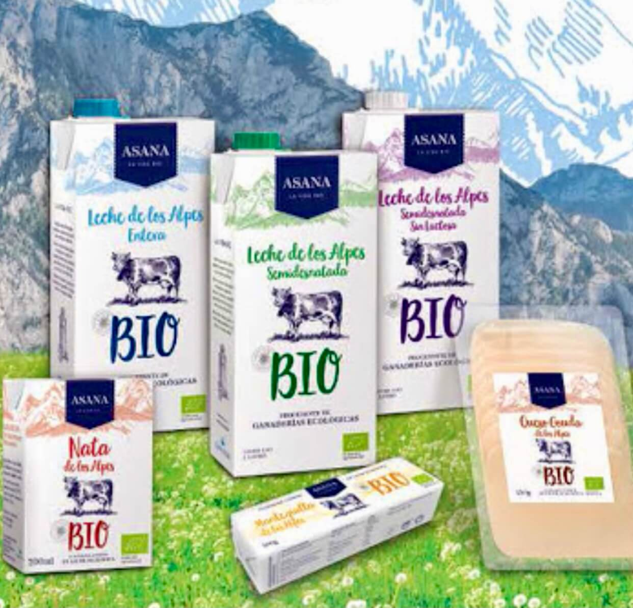 Mejor leche ecológica garantizadaAsana Bio
