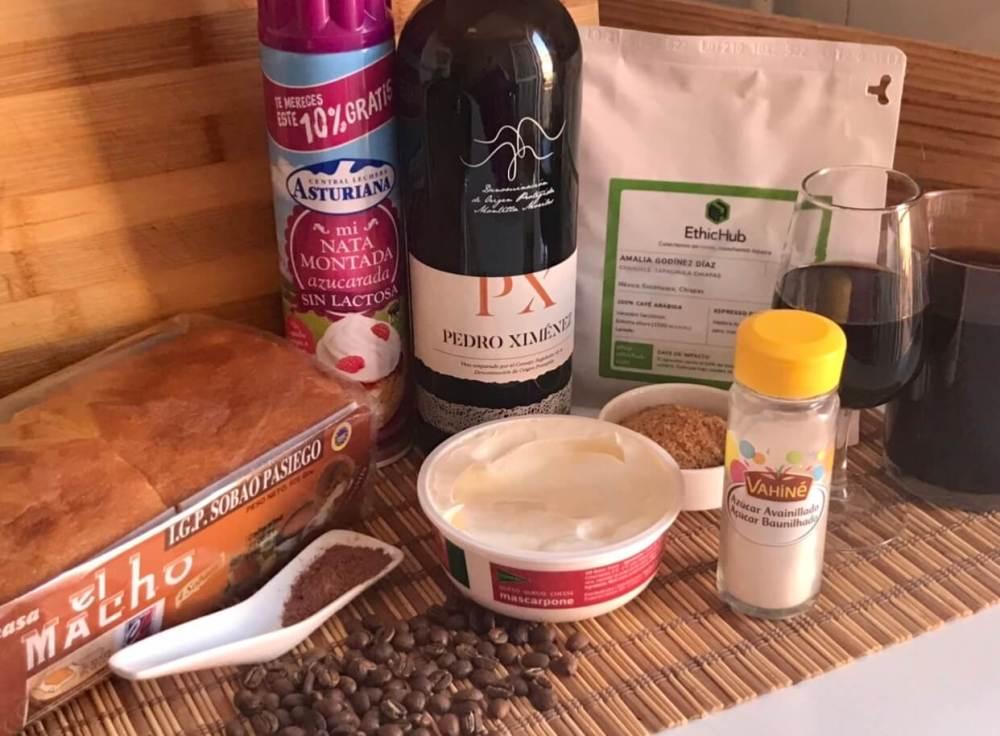 Ingredientes para hacer tiramisu