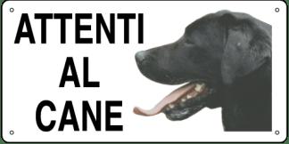 Targa: ATTENTI AL CANE