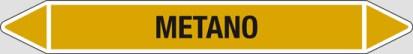 Etichetta autoadesiva per tubazioni: METANO art. 99231
