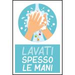 Targa: LAVATI SPESSO LE MANI art. 35552