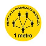 Adesivo da pavimento RISPETTA LA DISTANZA DI SICUREZZA 1 METRO art. PPS508