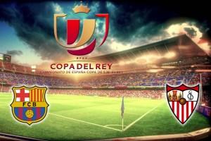 La finale di Coppa del Rey Barcellona - Siviglia