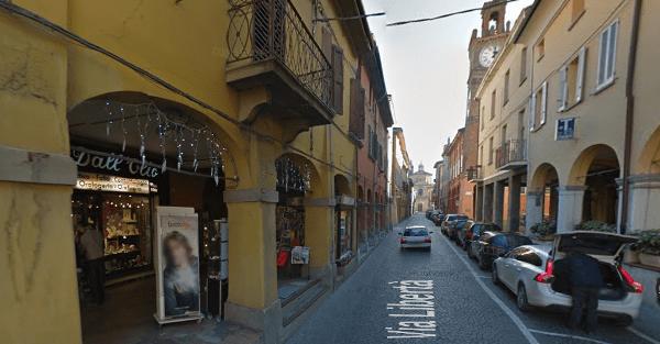 Via della Libertà a Medicina (Bologna) dove si trovava la casa chiusa cinese