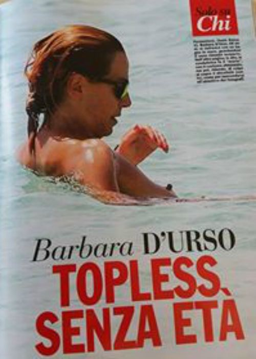 Barbara D'Urso in topless
